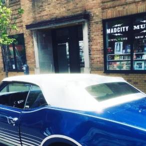 "A 1969 Oldsmobile Cutlass Supreme nicknamed ""Blue Cheer"""
